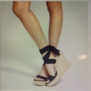 Ugg Jules Black Ribbon Wedges